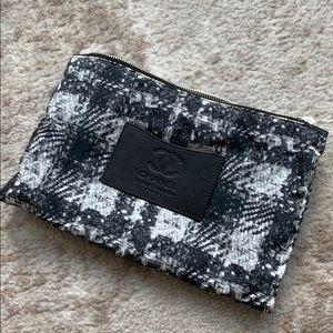 Chanel Nylon tweed pouch